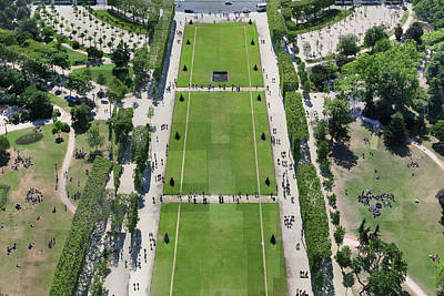 Photograph - Eiffel Tower Lawn by Stephen Farley