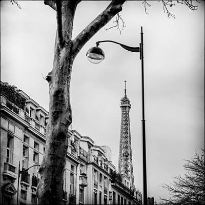 Paris Skyline Royalty-Free and Rights-Managed Images - Eiffel Tower by Lazh Lo