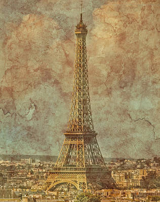Photograph - Paris, France - Eiffel Tower by Mark Forte