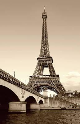 Photograph - Eiffel Tower, Monochrome by Gordon Beck
