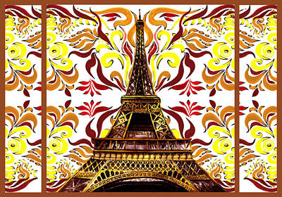 Painting - Eiffel Tower Mystic Laces I by Irina Sztukowski