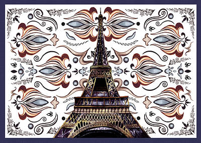 Painting - Eiffel Tower Mystic Laces IIi by Irina Sztukowski