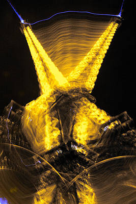 Photograph - Eiffel Tower New Year by Lawrence Boothby