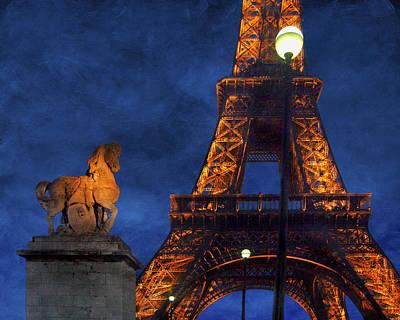 Nuit Photograph - Eiffel Tower - Night by Nikolyn McDonald