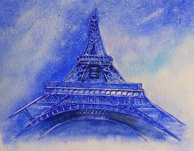 Painting - Eiffel Tower Nights by Kelly Mills