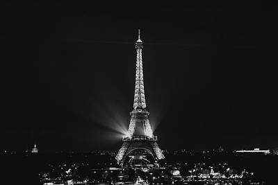 Photograph - Eiffel Tower Noir by Melanie Alexandra Price