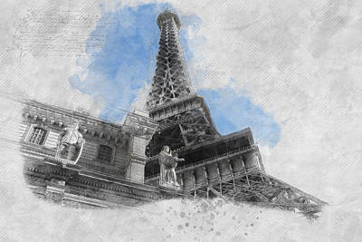 Eiffel Tower Painting - Eiffel Tower Of Paris by Asar Studios