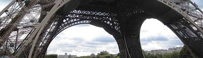 Photograph - Eiffel Tower Panoramic Paris France by John Shiron