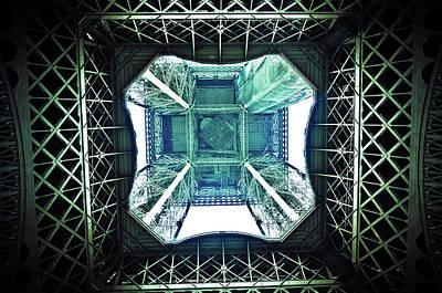 Part Of Photograph - Eiffel Tower Paris by Fabien Astre