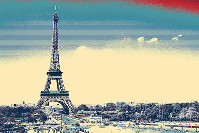 Painting - Eiffel Tower Paris France by Celestial Images