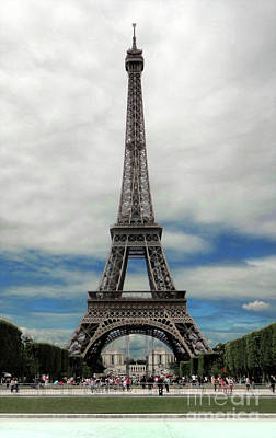 Photograph - Eiffel Tower Paris France by Gregory Dyer