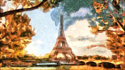Paris Shop Digital Art - Eiffel Tower - Paris by Galeria Trompiz
