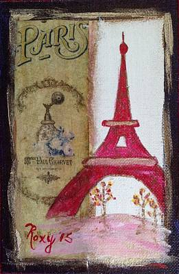 Cities Painting - Eiffel Tower Paris by Roxy Rich