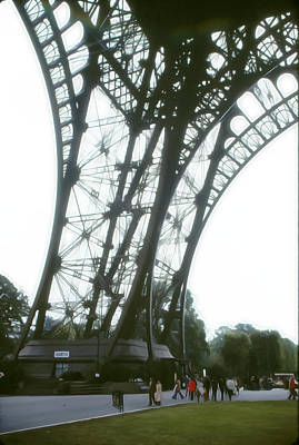 Photograph - Eiffel Tower Partial Structure And Book Store by Roy Williams