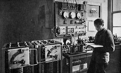 Alphonse Photograph - Eiffel Tower Radio Station, 1914 by