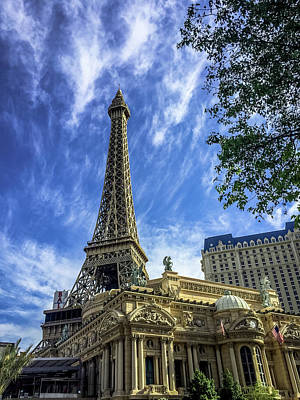 Photograph - Eiffel Tower Replica At Paris Hotel - Las Vegas, Nevada by Debra Martz