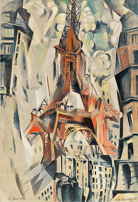 Lyrical Abstractions Painting - Eiffel Tower by Robert Delaunay