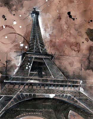 Painting - Eiffel Tower by Sean Parnell