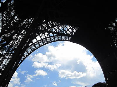 Photograph - Eiffel Tower Sky View Paris France by John Shiron