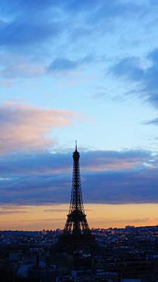 Photograph - Eiffel Tower Soft Sunset Paris France by Lawrence S Richardson Jr
