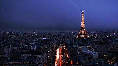 Photograph - Eiffel Tower Sparkle Paris France by Lawrence S Richardson Jr