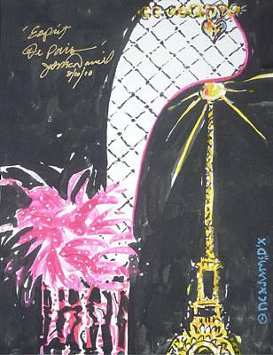 Painting - Eiffel Tower Spirit Of Paris by Jerry W McDaniel