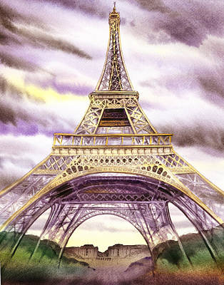 Painting - Eiffel Tower Summer In Paris by Irina Sztukowski