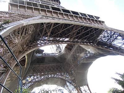 Photograph - Eiffel Tower Tarped In Clouds Paris France by John Shiron