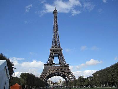 Photograph - Eiffel Tower Tarped Viii Paris France by John Shiron