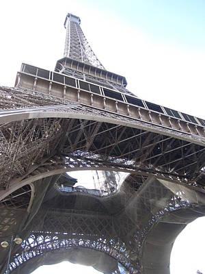 Photograph - Eiffel Tower Tarped X Paris France by John Shiron