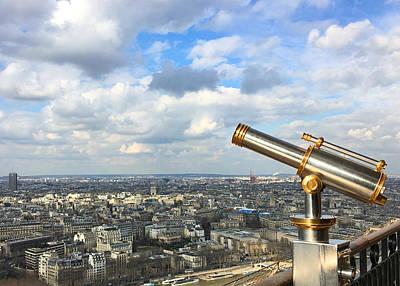 Photograph - Eiffel Tower Telescope Paris France by Lawrence S Richardson Jr