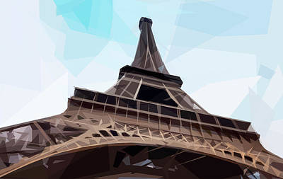 Digital Art - Eiffel Tower by ISAW Gallery