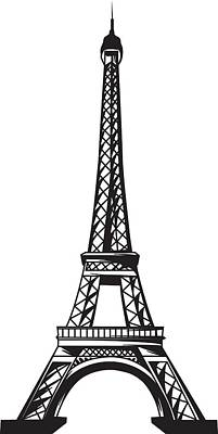 Digital Art - Eiffel Tower Up by Stanley Mathis