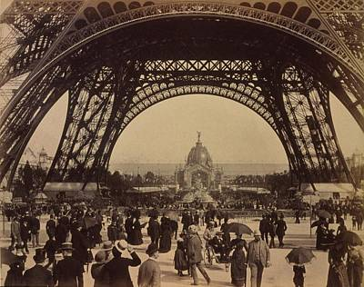 1880s Photograph - Eiffel Tower, View Toward The Central by Everett