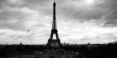 Paris Skyline Royalty-Free and Rights-Managed Images - Eiffel Tower Vintage by Laura Greco