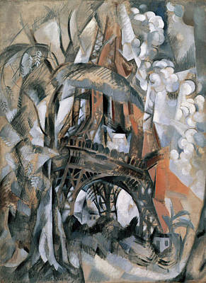Lyrical Abstractions Painting - Eiffel Tower With Trees by Robert Delaunay
