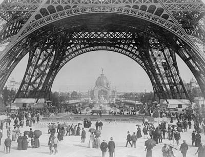 Historian Photograph - Eiffel Tower - World's Fair 1889 by War Is Hell Store
