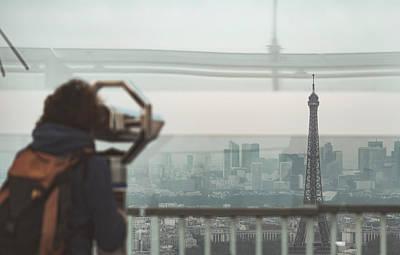 Photograph - Eiffel View by Nikos Stavrakas