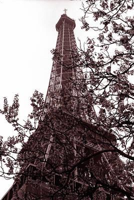 Eiffel With Tree Art Print by Kathy Yates
