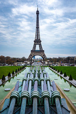 Eiffeltower From Trocadero Garden Art Print