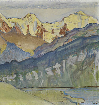Painting - Eiger, Monch And Jungfrau From Beatenberg by Ferdinand Hodler