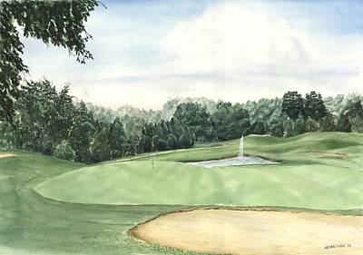 Painting - Eight Green The Trails Golf Course by Lane Owen