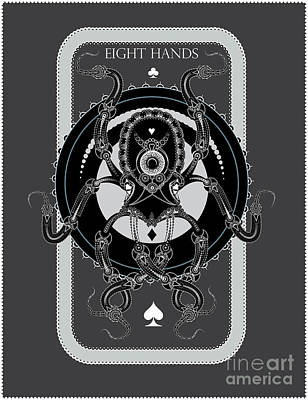 Digital Art - Eight Hands by Mike Massengale