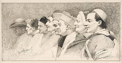 Head Painting - Eight Heads Of Ecclesiastics by Celestial Images