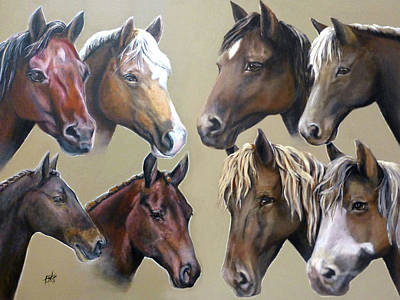 Painting - Eight Horses by Michelle Iglesias