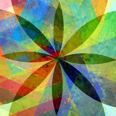 Art Print featuring the painting Eight Petals by Michelle Calkins