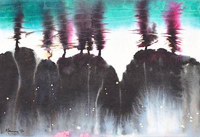 Abstract Painting - Eight Trees by Marian Fannon Christian