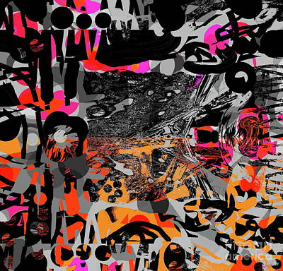 Digital Art - Eight Unrepentant by Expressionistart studio Priscilla Batzell