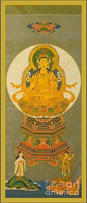 Digital Art - Eighteenth Century Japanese Gilt Seated Buddha by Peter Ogden