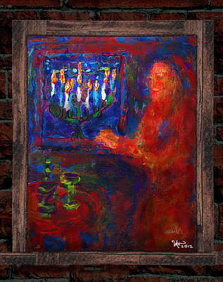 Painting - Eighth Day Of Chanukah by Michael A Klein